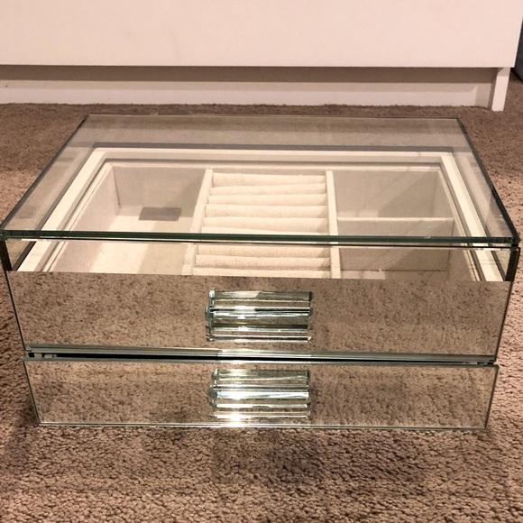 Ellie Tahari mirrored jewelry box